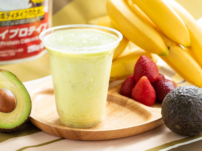 プロテインアボカドバナナスムージーの写真