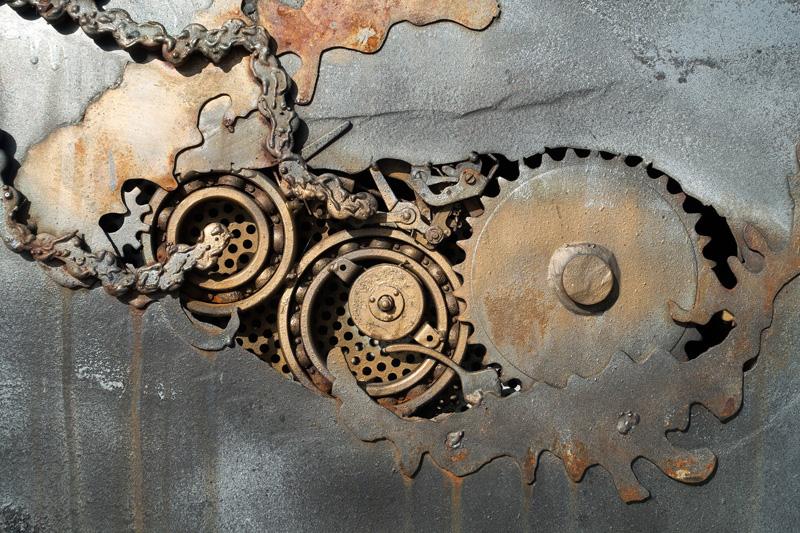 鉄の歯車の写真